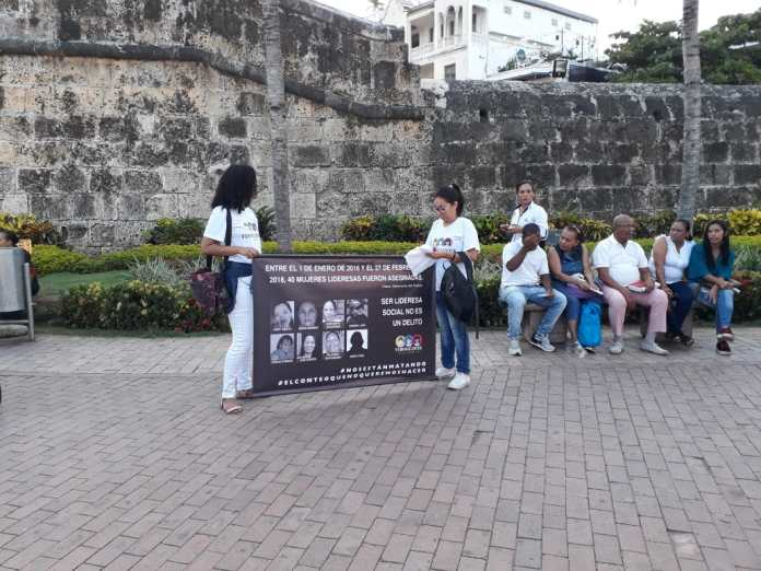 Human Rights Leaders Assasinations Vigil Cartagena Colombia