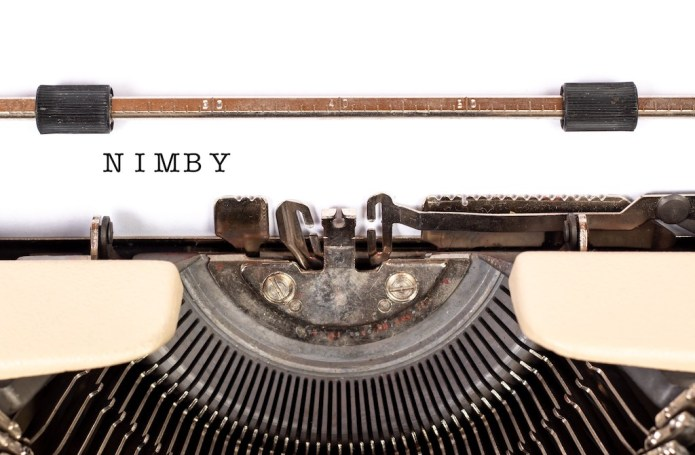 NIMBY (Not In My Back Yard) is one of many acronyms used in English language.