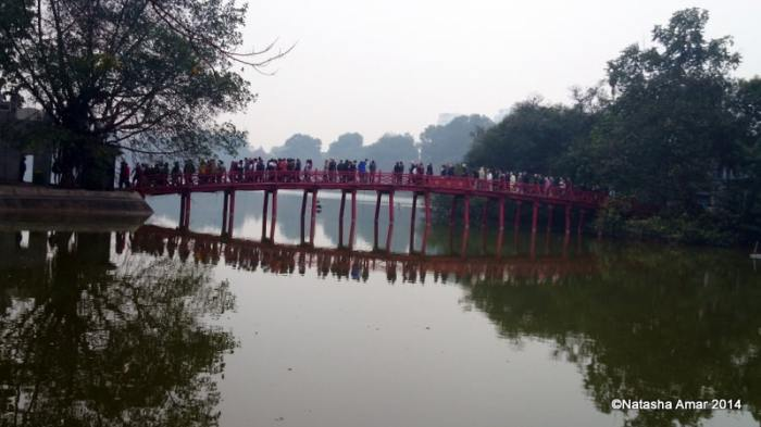 Bridge at the Hoan Kiem Lake, Hanoi
