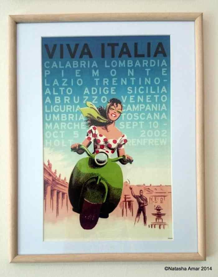 Vintage print framed on my wall