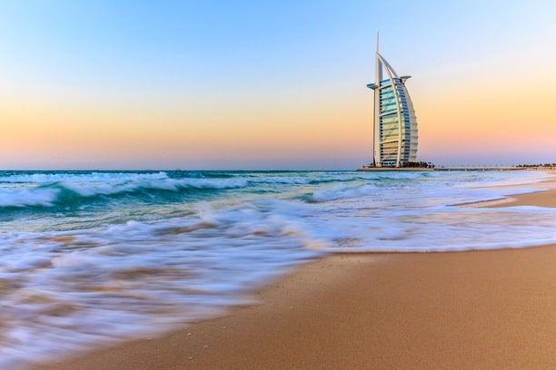 The iconic Burj Al Arab- affordable hotels in dubai
