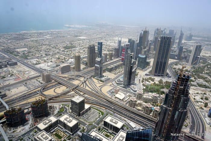 Sheikh Zayed Road, at the top burj khalifa
