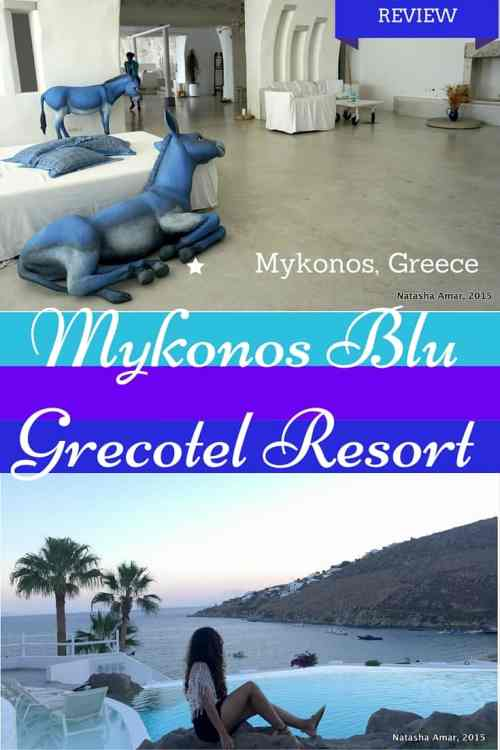 My review of Mykonos Blu Grecotel Exclusive Resort, a luxurious all-white property located on the glamorous Psarou beach in Mykonos, Greece.