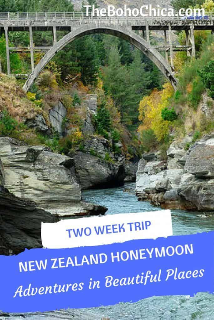 How to Spend Two Weeks in New Zealand: A complete itinerary of adventures in beautiful places for the best spots in the North Island and South Island of New Zealand, from my New Zealand honeymoon.