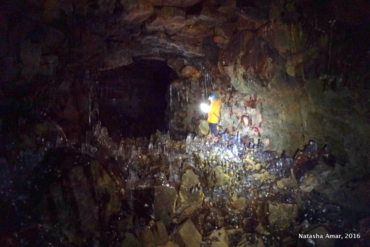 Raufarhólshellir lava tube cave Iceland