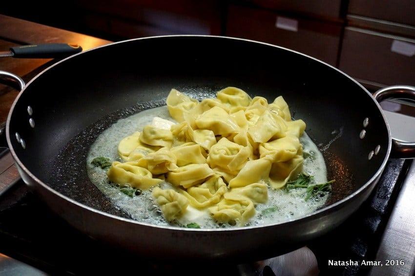 Tortelloni Pasta in bologna, Italy