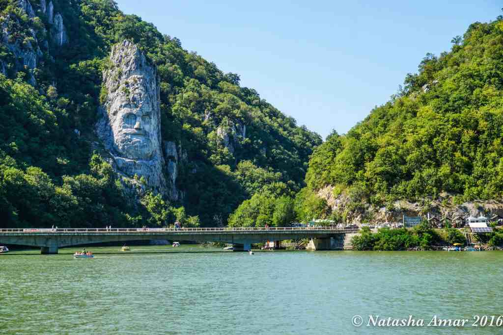 Rock sculpture of Decebalus: An Iron Gate Cruise on the Danube in Serbia