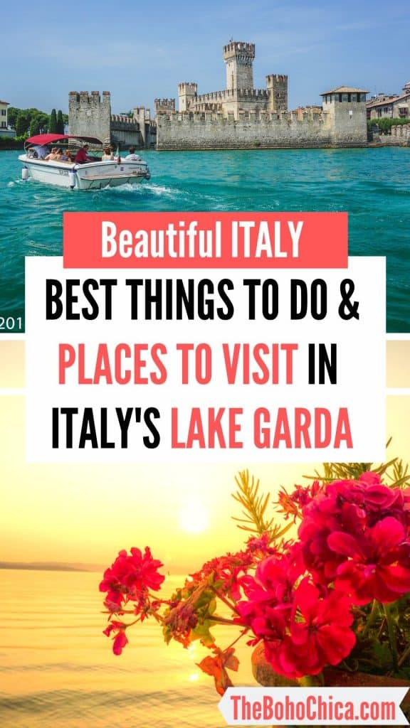 Lake Garda Holidays: Things to do in Lake Garda and places to visit on the perfect Italian lakeside trip of beautiful towns, medieval architecture, fantastic views, quality wines, and amazing food! #Italy #Italytravel #LakeGarda #Italy #Italytravel #lakeGarda #lakesideholiday