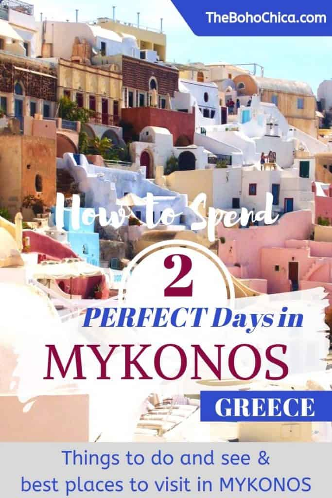 What to do in Mykonos: Top Things to Do in Mykonos for Two Days plus tips on visiting Mykonos in the shoulder season (hint: cheaper hotels) #Mykonos #Greece #Cyclades