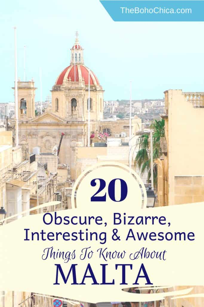 You might have not thought about Malta for you next Mediterranean trip, but there are so many reasons to plan a trip to this beautiful archipelago nation that sees over 300 days of sunshine. Here are some obscure, bizarre and interesting things to know about Malta. No.s 4, 8 and 17 might REALLY surprise you!