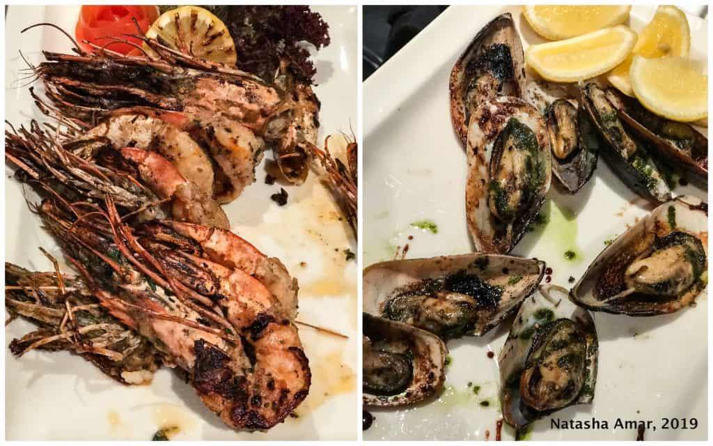 Seafood at Azure Millennium Resort Mussanah