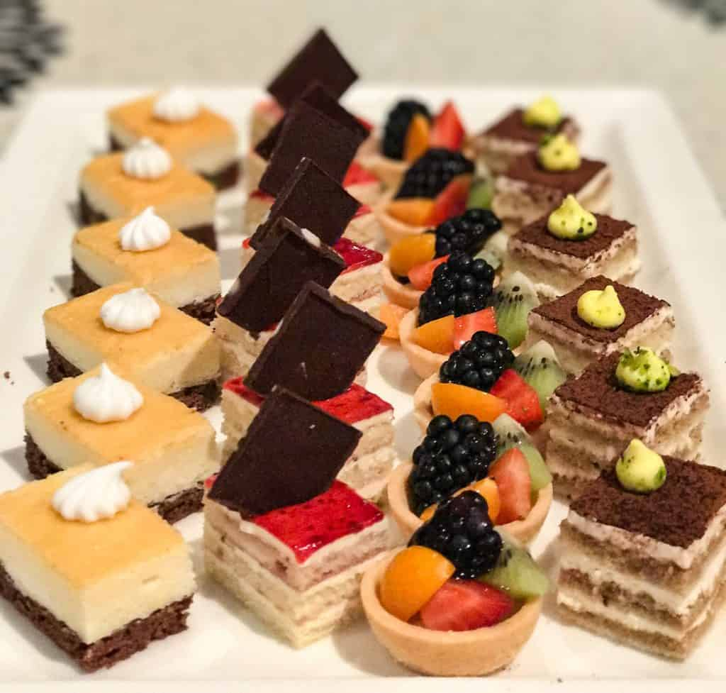 Desserts at Azure