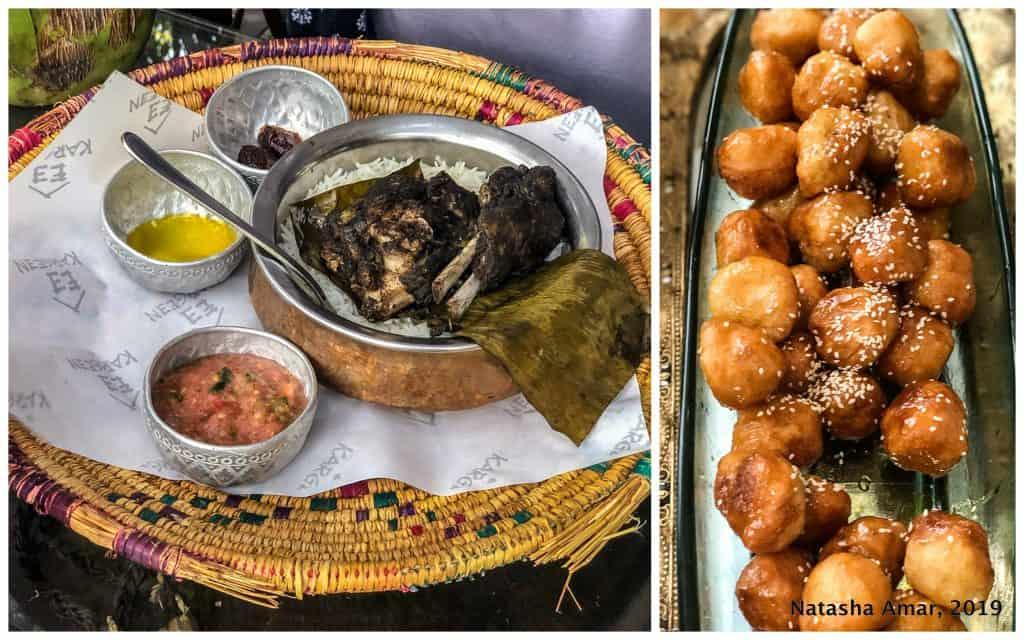 Omani shuwa and luqaimat