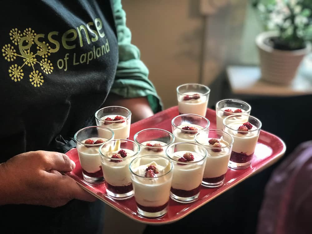 A Taste of the Arctic in Swedish Lapland: Cloudberry parfait