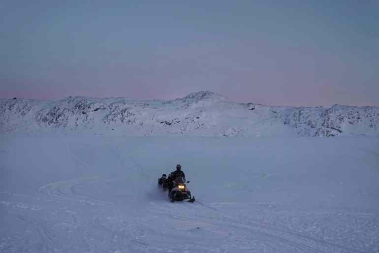 Snowmobile in Ilulissat