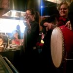 Birthday drums and gongs and singing