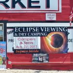 Solar Eclipse 2017 camping at the Mann Creek Market