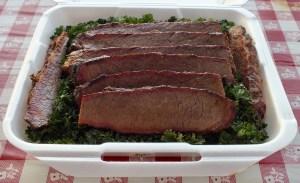 Brisket judge's box from Swine Stewards BBQ Team