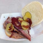 Brisket sandwich from Spud's Catering and BBQ
