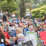 Crowd at Blues Brothers concert 2 in Idaho Botanical Gardens