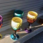 Glasswork at mobile art studio for Meridian Art Week