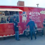 Spud's sold delicious BBQ from their trailer