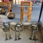 The 'band' of frogs at the mobile art studio