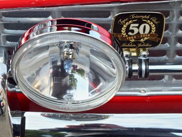 Triumph badge on car