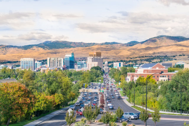 Boise from the Train Depot on the Bench