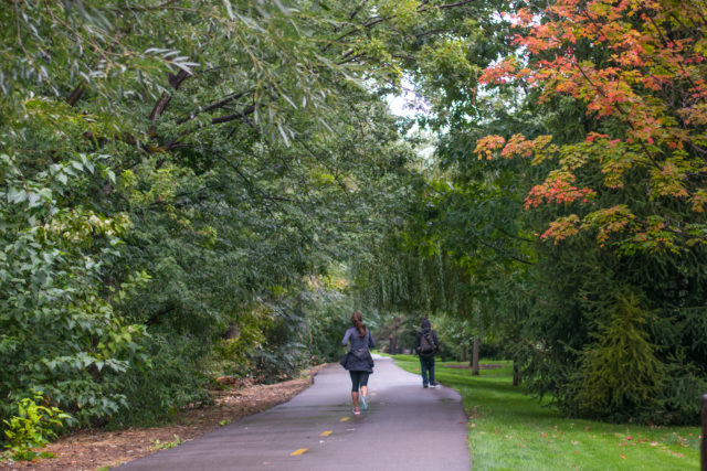 Fall is in the air in Boise and it's a great time for a peaceful walk on the Greenbelt near Boise State..