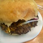 Closeup of Bison Burger at BFC