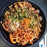 Yellowtail and Spicy Tuna Bowl at Paddles Up Poke