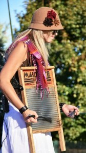 Brook Faulk with washboard