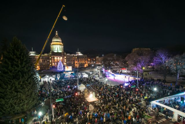 Boise Statehouse during the Idaho Potato Drop Festival