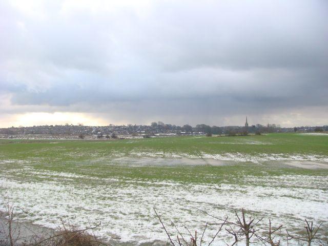 Wintery views towards Kirkham