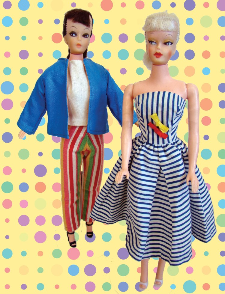 Turquoise Barbie House: The Bold Doll
