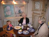 enjoying tea in the tea room