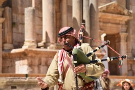 bagpipes in Jordan - who knew?!