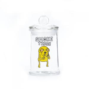 STASH JAR - SMOKE TIME JAKE 150ML CLEAR GLASS JAR