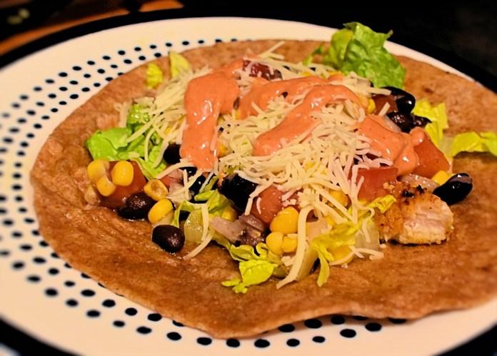Prepped fish taco