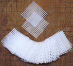 2×2 Inch Rigid Polyethylene Medium Bonsai Pot Mesh Drainage Screens