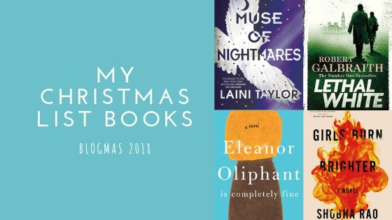 My Christmas List Books   Blogmas #7
