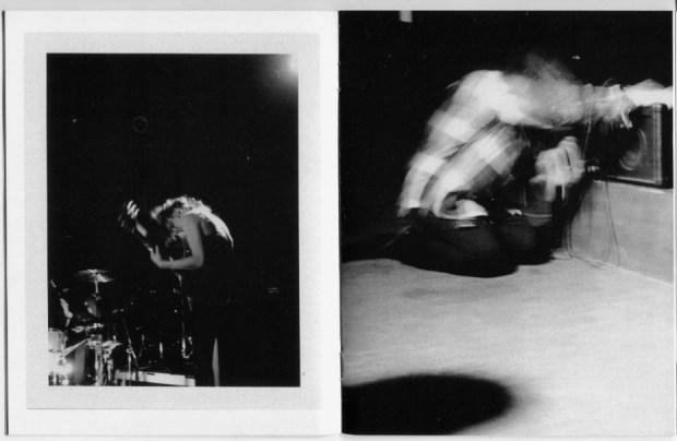 black and white polaroid photography zine