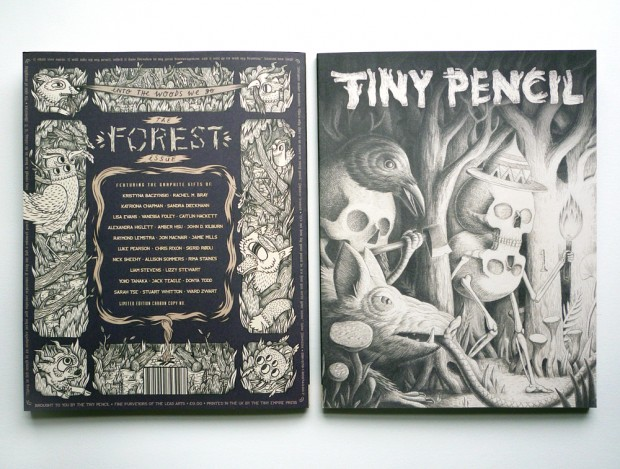 Tiny Pencil zine front and back cover
