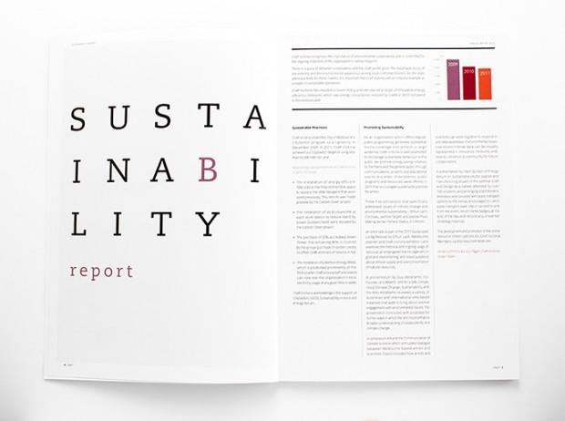 Craft Victoria annual report - design inspiration