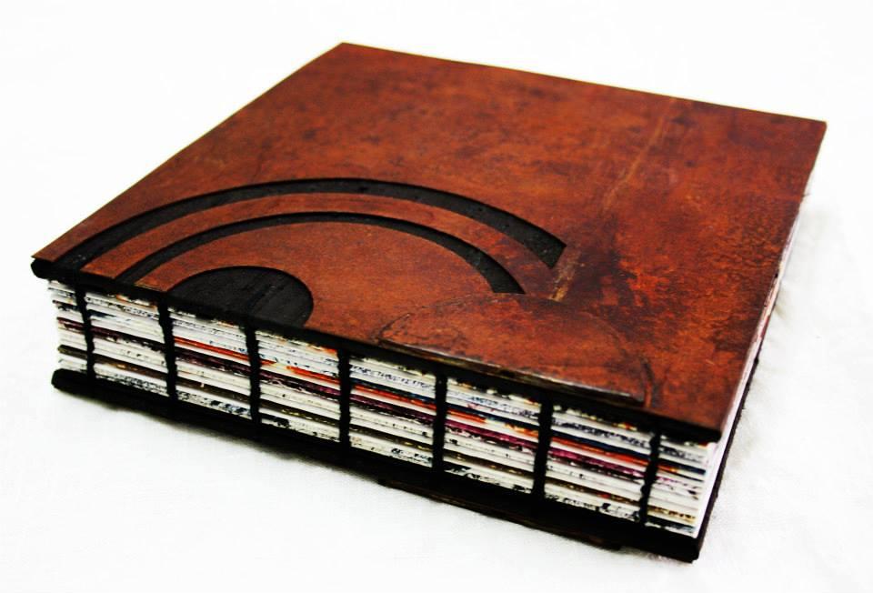 Hand-bound iron book by Simona Noli