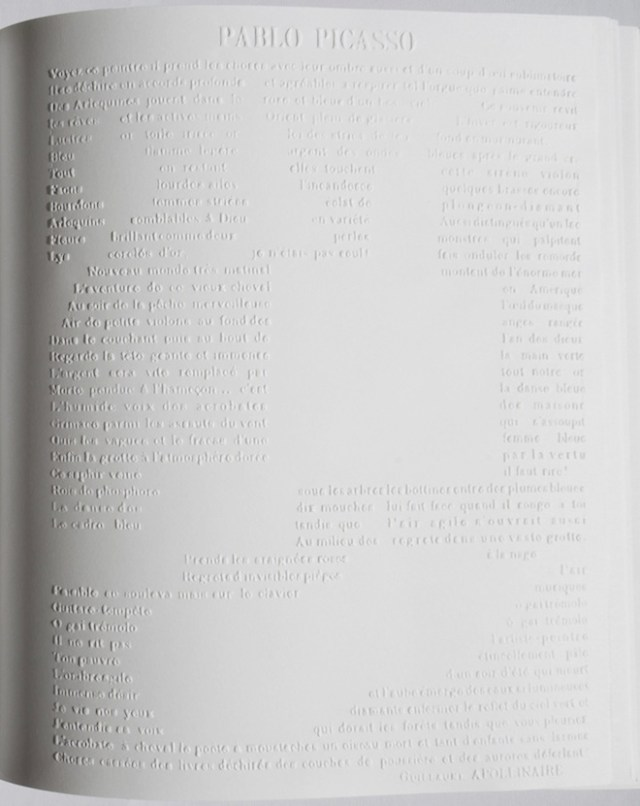 Graphic design and book design inspiration –  book printed without ink for Chanel