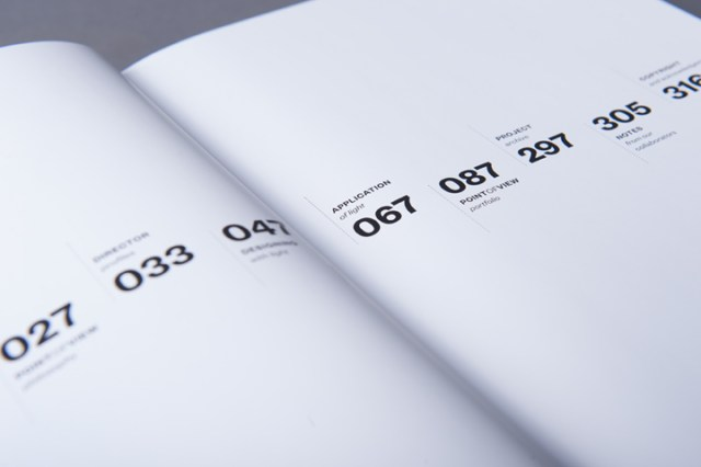 graphic design inspiration - clean typographic book interior spread design