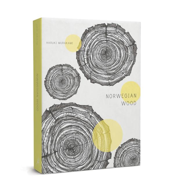 Haruki Murakami – Norwegian Wood illustrated book cover