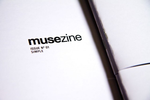 Musezine black and white zine